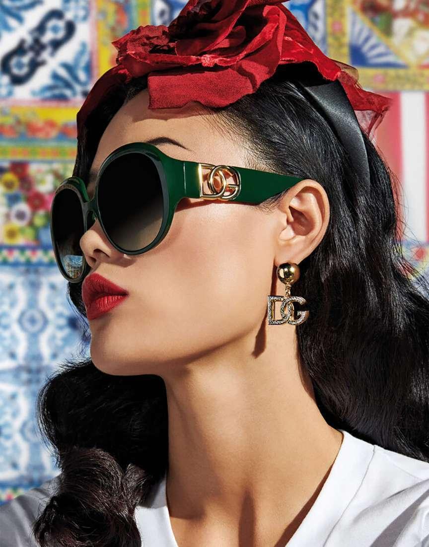Occhiali da sole verdi Dolce e Gabbana