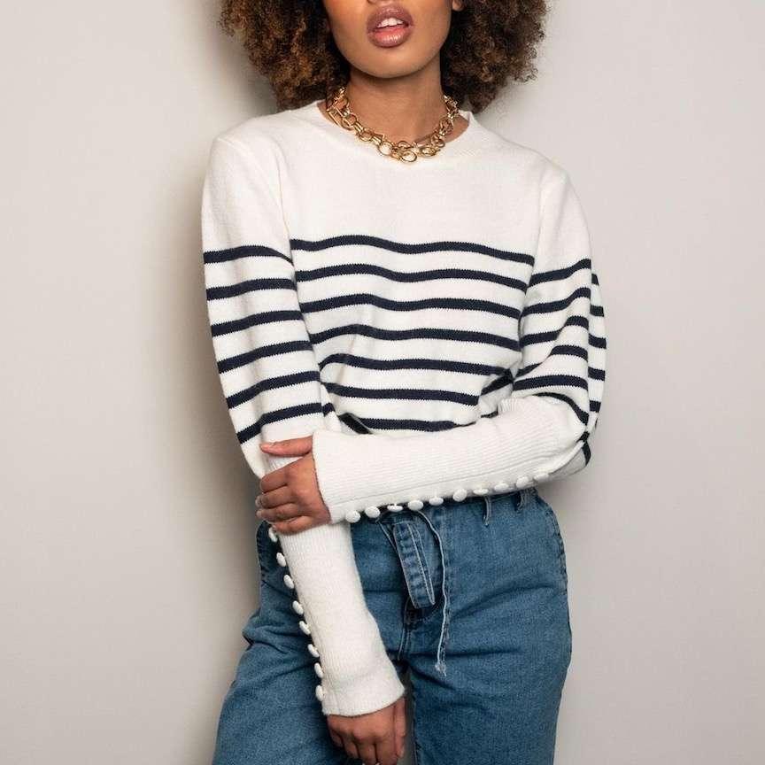 maglione con le righe