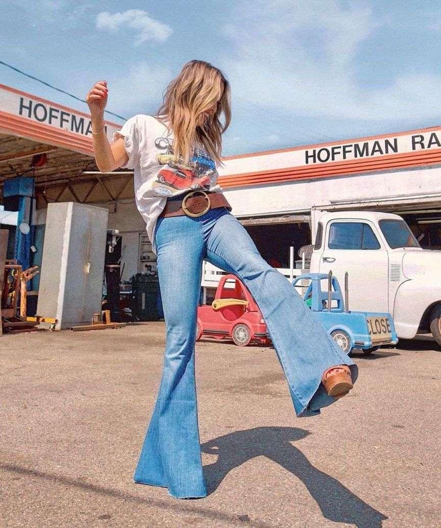 jeans a zampa anni 70