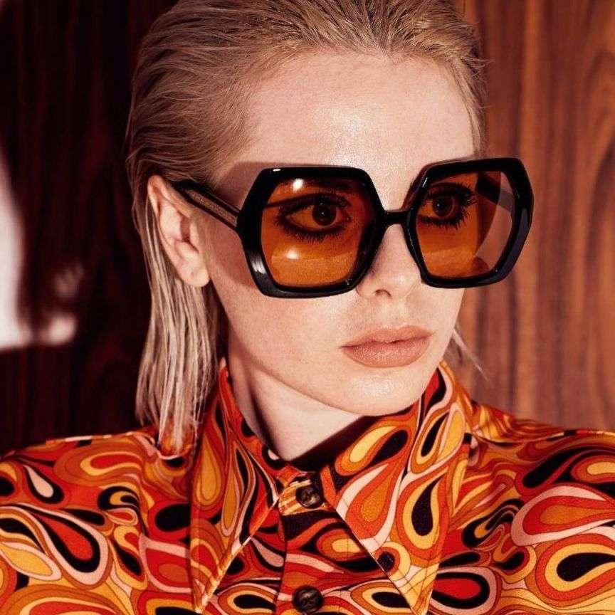 occhiali da sole oversize anni 70