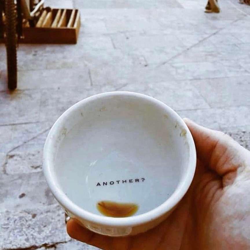 tazzina vuota senza caffè