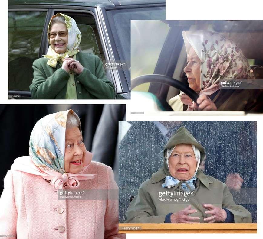 queen elizabeth head scarf