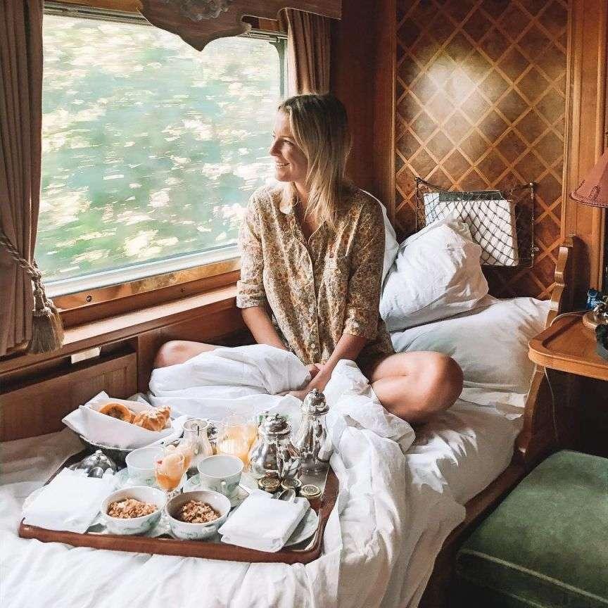 colazione a bordo del treno