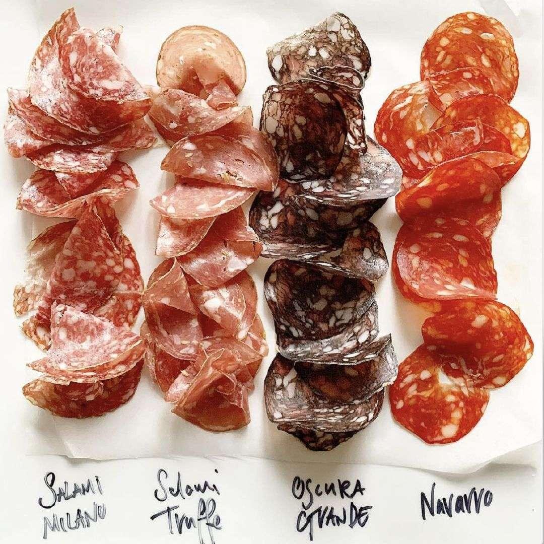 vari tipi di salame