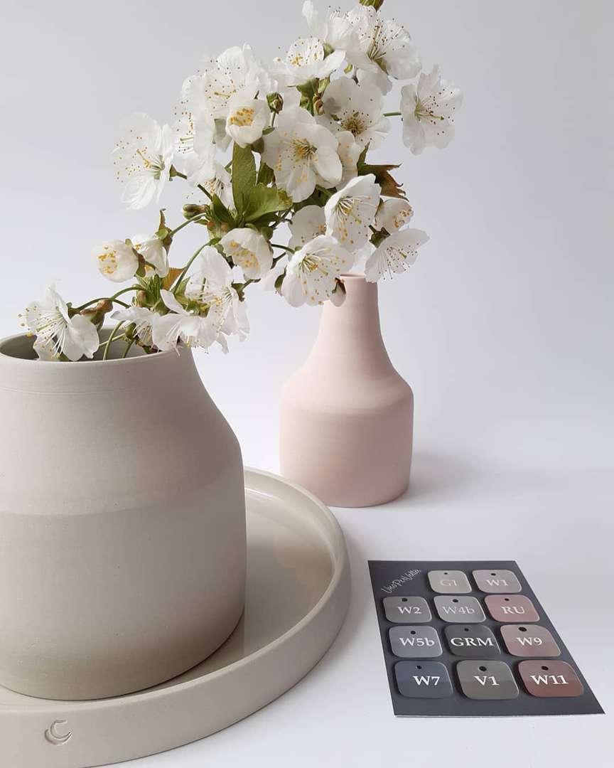 portafiori in ceramica colrata