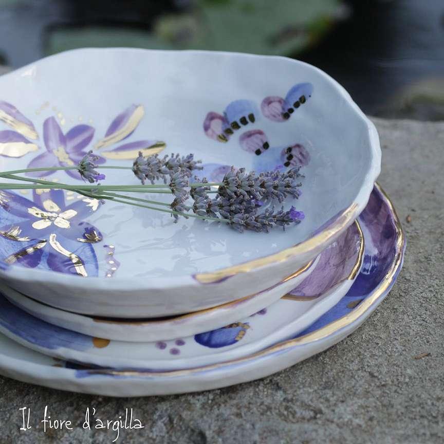 piatti in ceramica smaltata