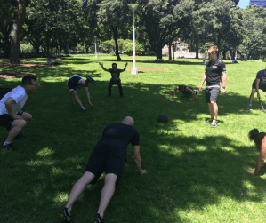 Group Fitness Sydney. Bootcamp.