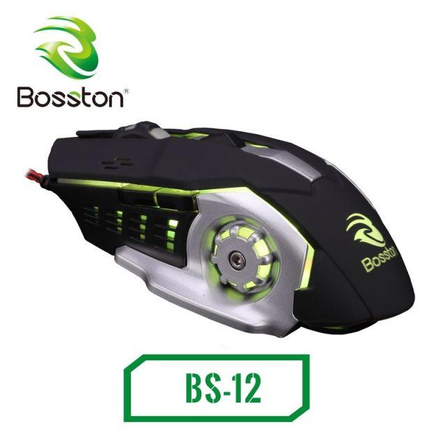 Mouse Bosston BS-12 Led RGB Gaming chính hãng