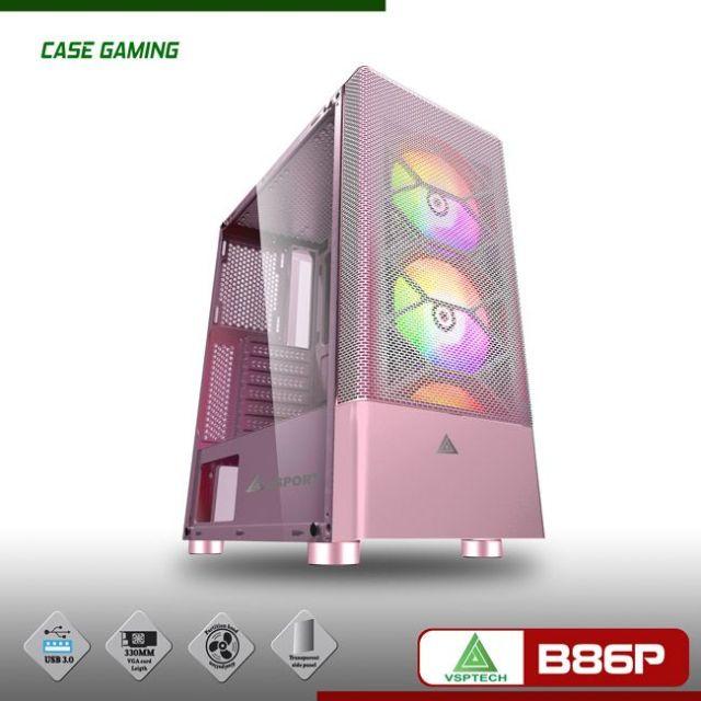 Vỏ thùng Case Vision VSP B86P hồng chính hãng
