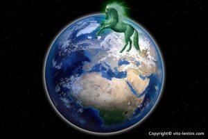 cheval verdâtre