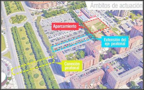 Los barrios de Lakua y Arriaga dispondrán de una mediana sobre Portal de Foronda y un nuevo aparcamiento en la calle Julián de Arrese,