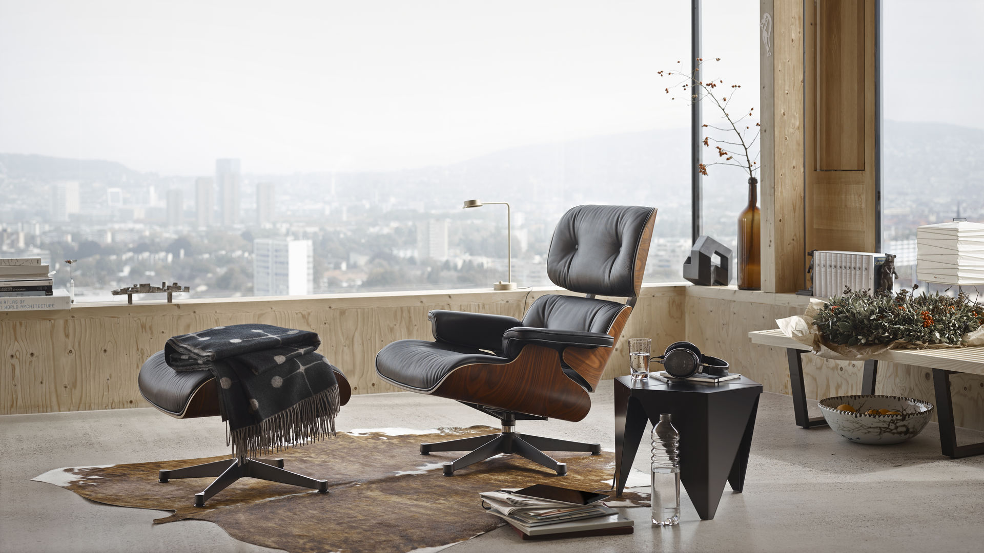 office lounge chair and ottoman via genie vitra prismatic table wool blanket web inspiration