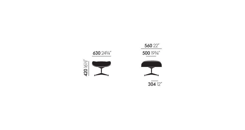 vitra lounge chair baby high chairs at target ottoman