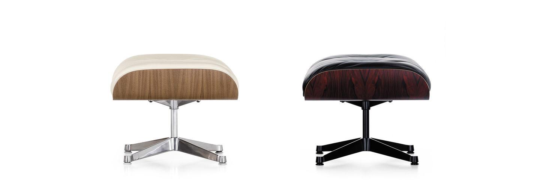 vitra lounge chair antique rocking styles ottoman der zum von charles und ray eames passende ist die ideale erganzung wenn man den komfort des sessels vollumfanglich geniessen