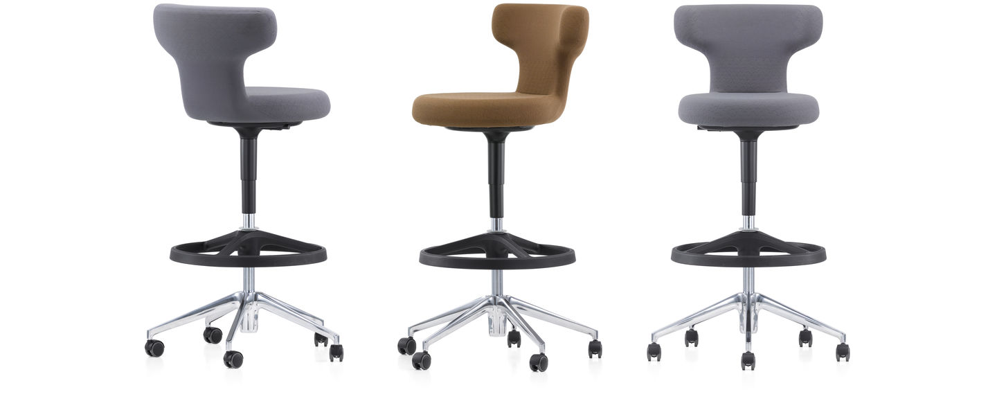 office chair vs stool revolving repair in gandhinagar vitra pivot high as is 30 cm taller than a standard it designed for use with standing height tables this encourages healthy and spontaneous