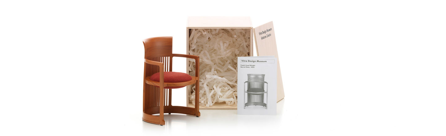 frank lloyd wright chairs swivel chair oversized vitra miniatures barrel originally designed by in 1904 for the d martin house buffalo new york this iconic was an embarkation from his earlier