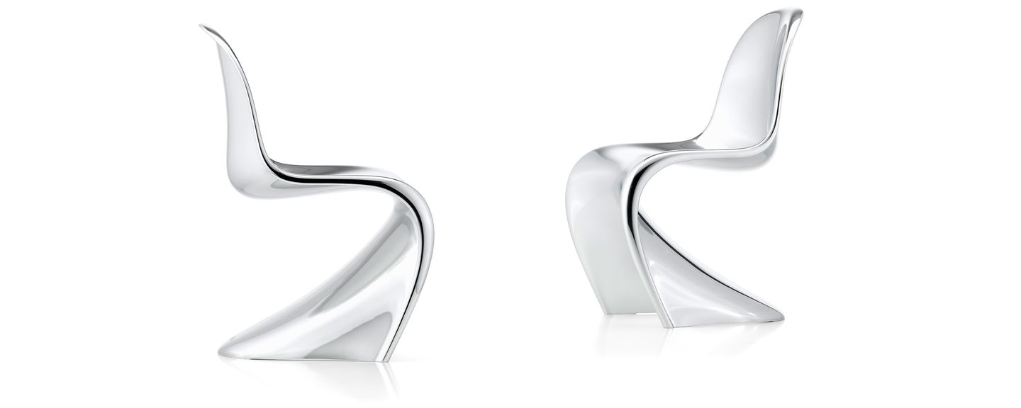 vernon panton chair toddler sleeper vitra chrome after several years of joint development by verner and the was finally ready for production in 1967 as first all plastic