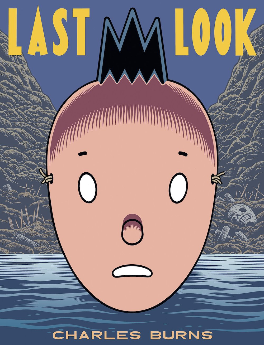 Last Look: a capa da coletânea com a trilogia X'ed Out, The Hive e Sugar Kull de Charles Burns