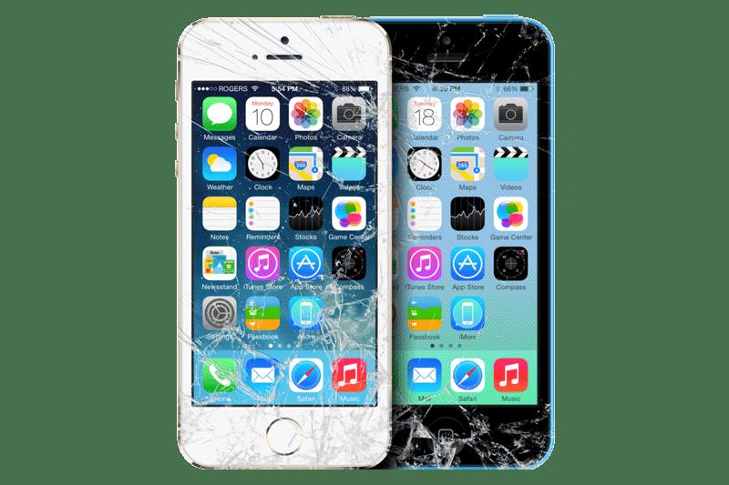 Ecran iphone cassé