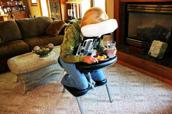 portable back support for chair caster replacements vitrectomy recovery | face down sleep