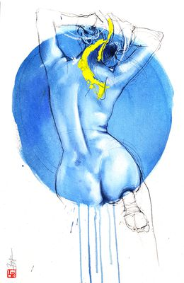 Pin up bleue