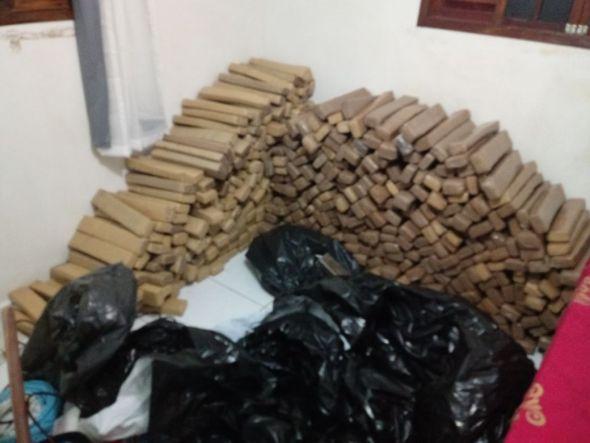Polícia apreende mais de uma tonelada de maconha na Paraíba