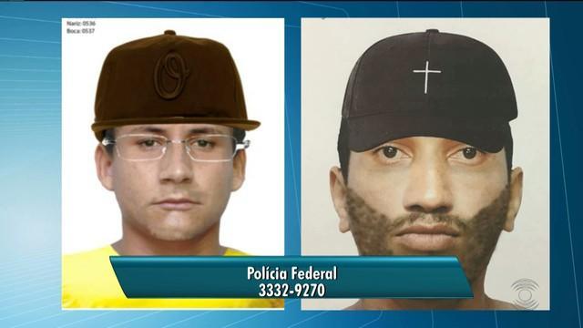 PF divulga retrato falado de suspeitos de assalto na UFCG