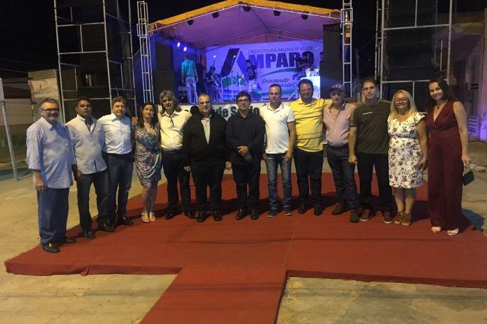 Rômulo Gouveia cumpre agenda em Amparo e participa de inauguração de praça