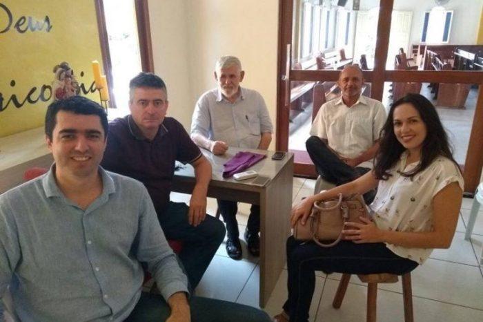 Luiz Couto e o ex-prefeito do Congo Romualdo Quirino fecham parcerias no Cariri
