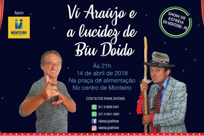 Praça da Alimentação em Monteiro será palco de show de humor no próximo sábado