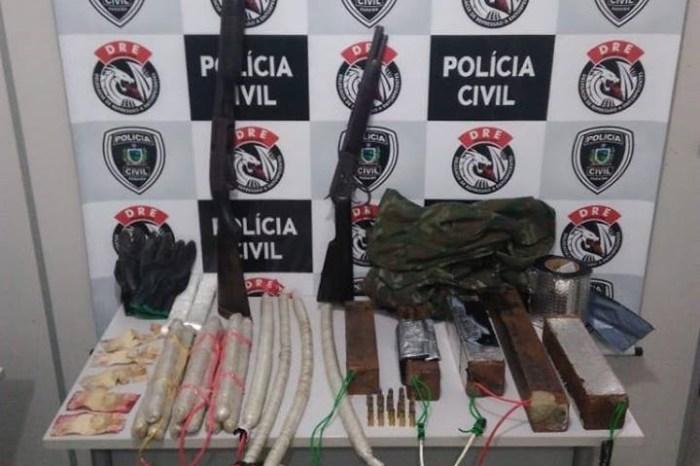 Polícia Civil apreende armas e explosivos na zona rural de cidade do Cariri