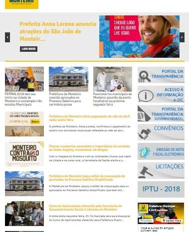 Comodidade e Segurança: IPTU de Monteiro pode ser impresso pelo site da Prefeitura