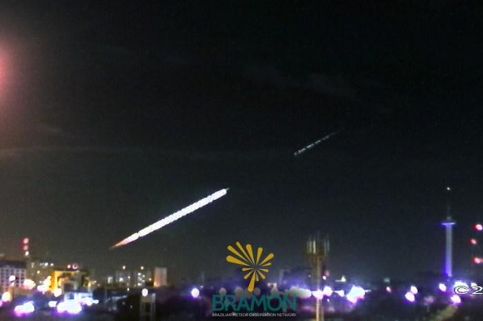 Meteoro é filmado em alta definição na PB ao cortar céu do Ceará