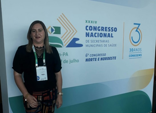 Secretária de Saúde de Monteiro participa de Congresso Nacional em Belém