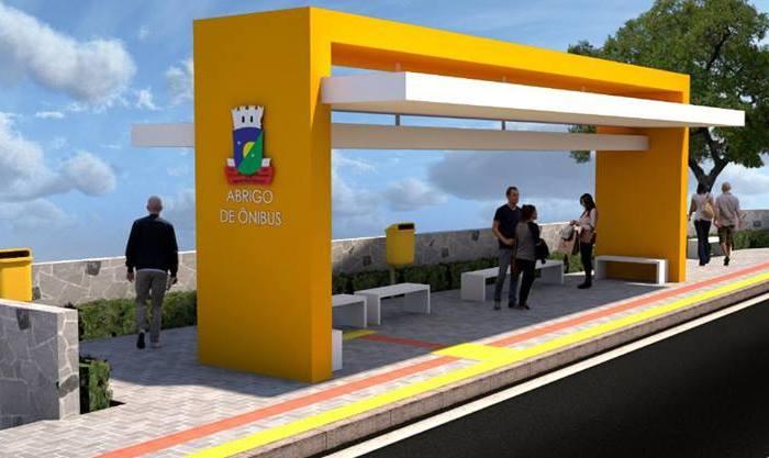 Prefeito anuncia entrega confortável e moderno abrigo de ônibus na cidade de Sumé