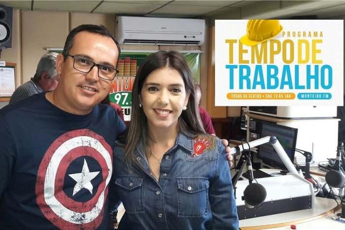 """Programa """"Tempo de Trabalho"""" estreia e tem audiência recorde em Monteiro"""