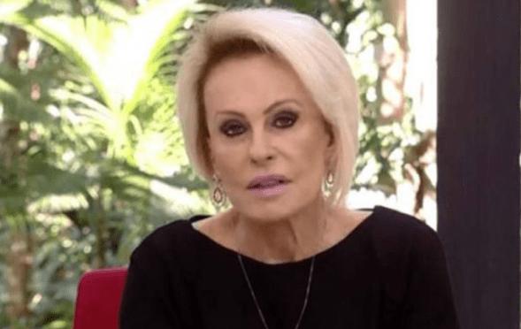 Ana Maria Braga se emociona na TV com morte de funcionário