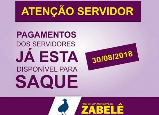 Prefeitura de Zabelê paga servidores municipais dentro do mês trabalhado