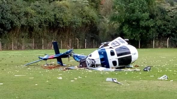 Helicóptero da PM que transportava governador do Espírito Santo cai