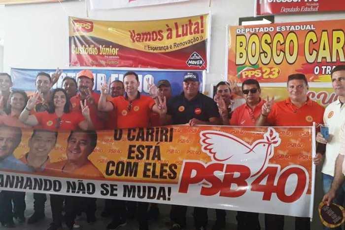 Éden Duarte e demais lideranças de Sumé participam da Convenção do PSB e reafirmam apoio a João