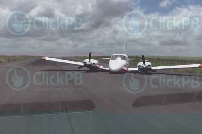 Avião usado por Lucélio, Cássio, Daniella e Pedro faz pouso forçado
