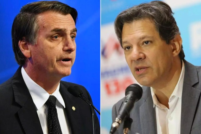 IBOPE: Bolsonaro segue líder; Haddad sobe 11 pontos e se isola em 2º