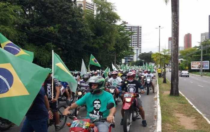 Carreata pró-Bolsonaro em JP: TRE-PB vê irregularidade e notifica PSL
