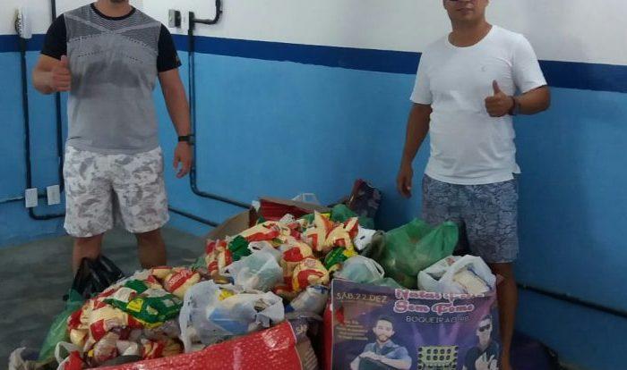 Ação social: Natal Feliz Sem Fome em Boqueirão arrecada mais de mil quilos de alimentos