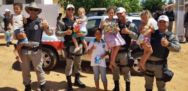 Polícia Militar de Serra Branca realiza Operação Criança Feliz neste Natal