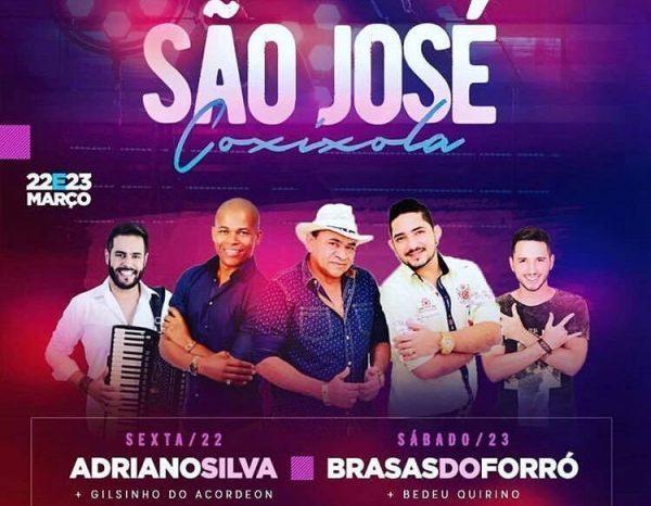 Neste sábado: Brasas do Forró anima tradicional Festa de São José na cidade de Coxixola