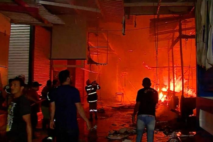 Incêndio é registrado no espaço da Feira da Sulanca em Caruaru