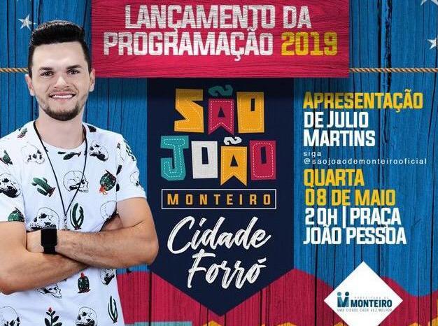 São João de Monteiro será lançado nesta quarta-feira, em clima de grande expectativa