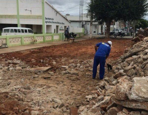 Prefeitura inicia construção de moderna Academia de Saúde no centro de Serra Branca