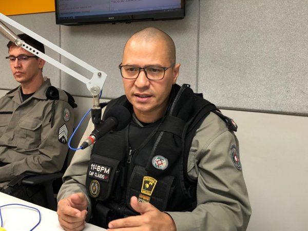 Comandante da PM anuncia reforço no policiamento de Serra Branca e mais operações noturnas